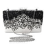 Evening Clutch Bag Crystal Pearl Beaded Purses For Women Party Bridal Handbag Wedding Evening Purse