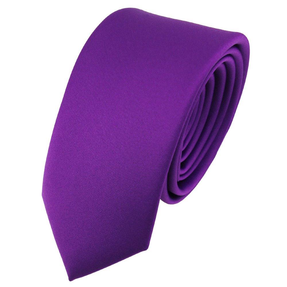 TigerTie - corbata estrecha - morado violeta monocromo: Amazon.es ...