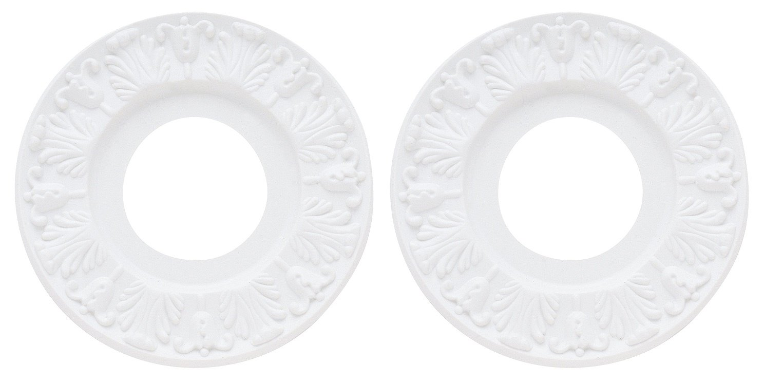 Westinghouse 7702700 Victorian Ceiling Medallion, 10'', White Finish - 2 Pack