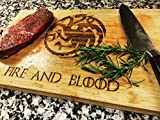 Fire and Blood - Game of Thrones - Engraved Cutting Board - Personalized - Custom - Wedding - Gift - Anniversary