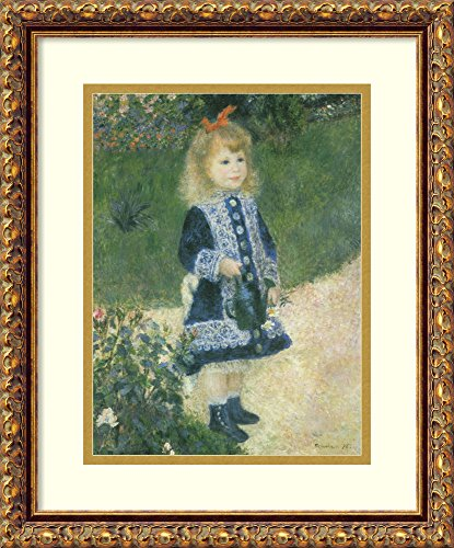 Framed Art Print 'A Girl with a Watering Can, 1876' by Pierre-Auguste Renoir