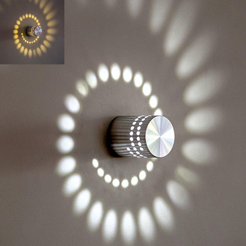 en las escaleras /3/W/ Plaf/ón LED de efecto espiral/ /Luz variable /Aplique con aislamiento del interior un Hall un sal/ón/
