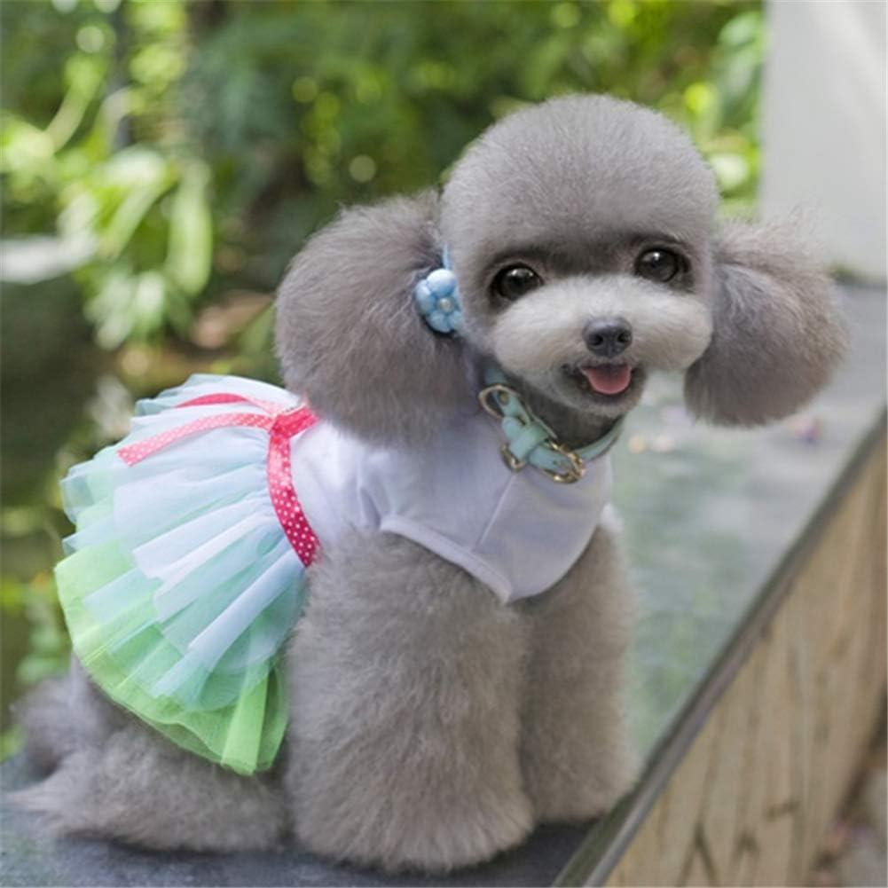 ppaphh Haustierkleid hundekleid Nette Hundekleider Hundekleid f/ür den Sommer Katzenkleidung Welpenkleidung Hundekleidung Hundekleidung f/ür kleine Hunde Blue,xs