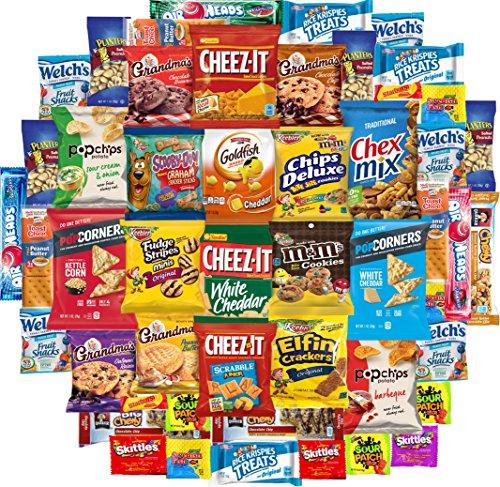 - Chips Cookies Crackers & Candies Variety Pack Includes Popcorners, Grandmas Cookies, Planters Peanuts, Keeblers Fudge Stripes, Pirates Booty, Rice Krispies & More, Bulk Sampler Care Package (50 Count)