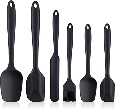 Heat Resistant Non Stick Rubber Spatulas with Stainless Steel Core for Cooking nuoshen Silicone Spatula