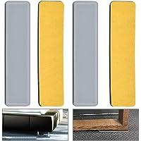 JRPT patas de mesa 4Piece,Patas de muebles 1.2Cm Ajustable,Furniture legs 1,5 Mm de Aluminio Proteger el Suelo Hermoso//dorado 8cm