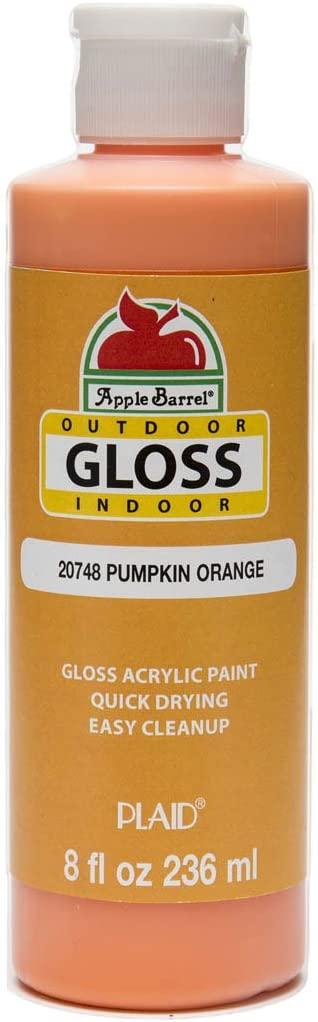 Apple Barrel Gloss Acrylic Paint in Assorted Colors (8 oz), 20748 Gloss Pumpkin Orange