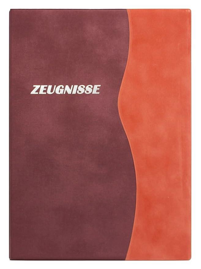 Zeugnismappe orange mit Name Zeugnisse personalisiert