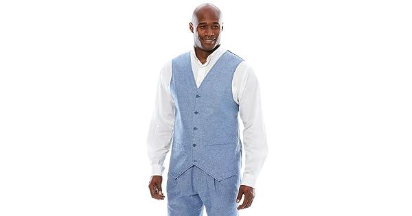 15fbb70e91e Ks Island Men s Big   Tall Linen Blend 5 Button Suit Vest