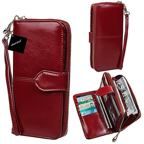 xhorizon TM SR Women Large Capacity Leather Zipper Wallet...