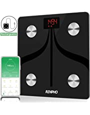 RENPHO Smart Bluetooth Body Fat Scale USB Rechargeable Digital Bathroom Scale w/IOS &Android app Wireless Body Composition Monitor for Body Weight, Body Fat%, BMI, Water, Muscle Mass, 396 Pounds