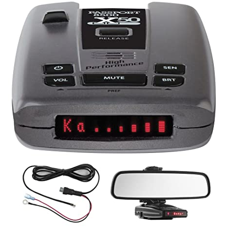 Escort Passport 8500 X50 Radar & Laser Detector with Smart Cord USB Includes Passport S55 Radar