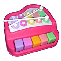 Vivir Kids 2 in 1 Xylophone and Piano Keyboard Toys (Pink)
