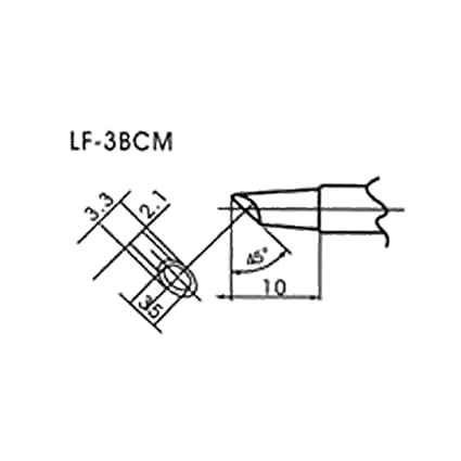 AOYUE WQ LF-3BCM Puntas soldadura sin plomo para Flow Type Soldador 45°