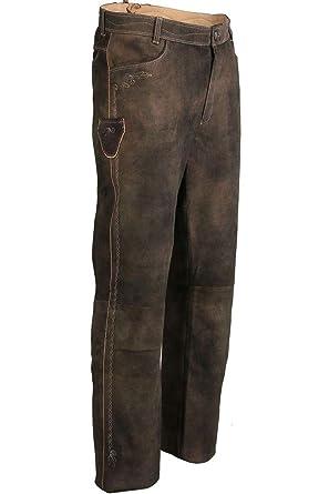 zu verkaufen sehr bequem beliebte Geschäfte Spieth & Wensky Herren Trachten Lederhose lang Dunkelbraun, braun,