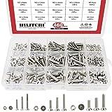 Hilitchi 460-Piece Metric M3 M4 M5 Hex Socket Flat Head Countersunk Bolts Screw Nut Assortment Kit - 304 Stainless Steel