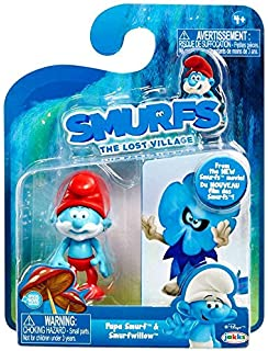 Smurfs The Lost Village Papa Smurf & Smurf Willow Figure (2 ...