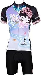 LAOYOU Lilies Womens Bike Clothes Bike Jersey Bike Apparel Bicycle Clothing  Cycling Apparel Bicycle Apparel Riding b312a5971