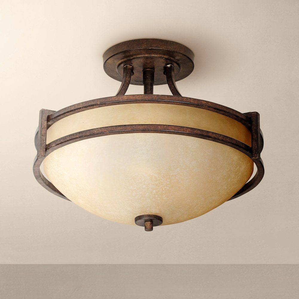 Oak valley collection 18 wide ceiling light fixture semi flush oak valley collection 18 wide ceiling light fixture semi flush mount ceiling light fixtures amazon arubaitofo Image collections