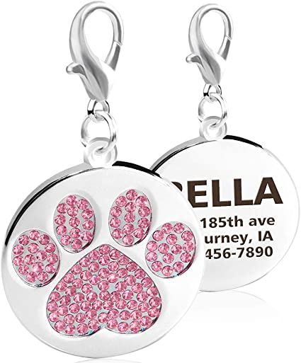 PORTUGUESE WATER DOG PAW LOVE HEART DOG License Plate Frame Stainless