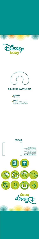 Disney 65363 - Cojín relleno de lactancia multifuncional, color Agua marino y Gris