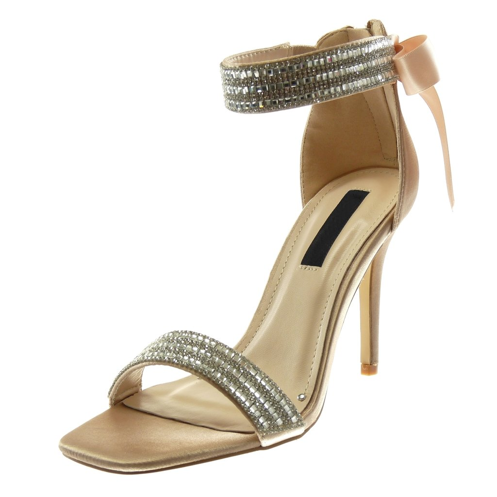 Angkorly Chaussure Mode Sandale Escarpin Escarpin Stiletto Chaussure Lanière Cheville cm Femme Strass Diamant Lanière Lacet Ruban Satin Talon Haut Aiguille 10 cm Beige 16f61c1 - fast-weightloss-diet.space