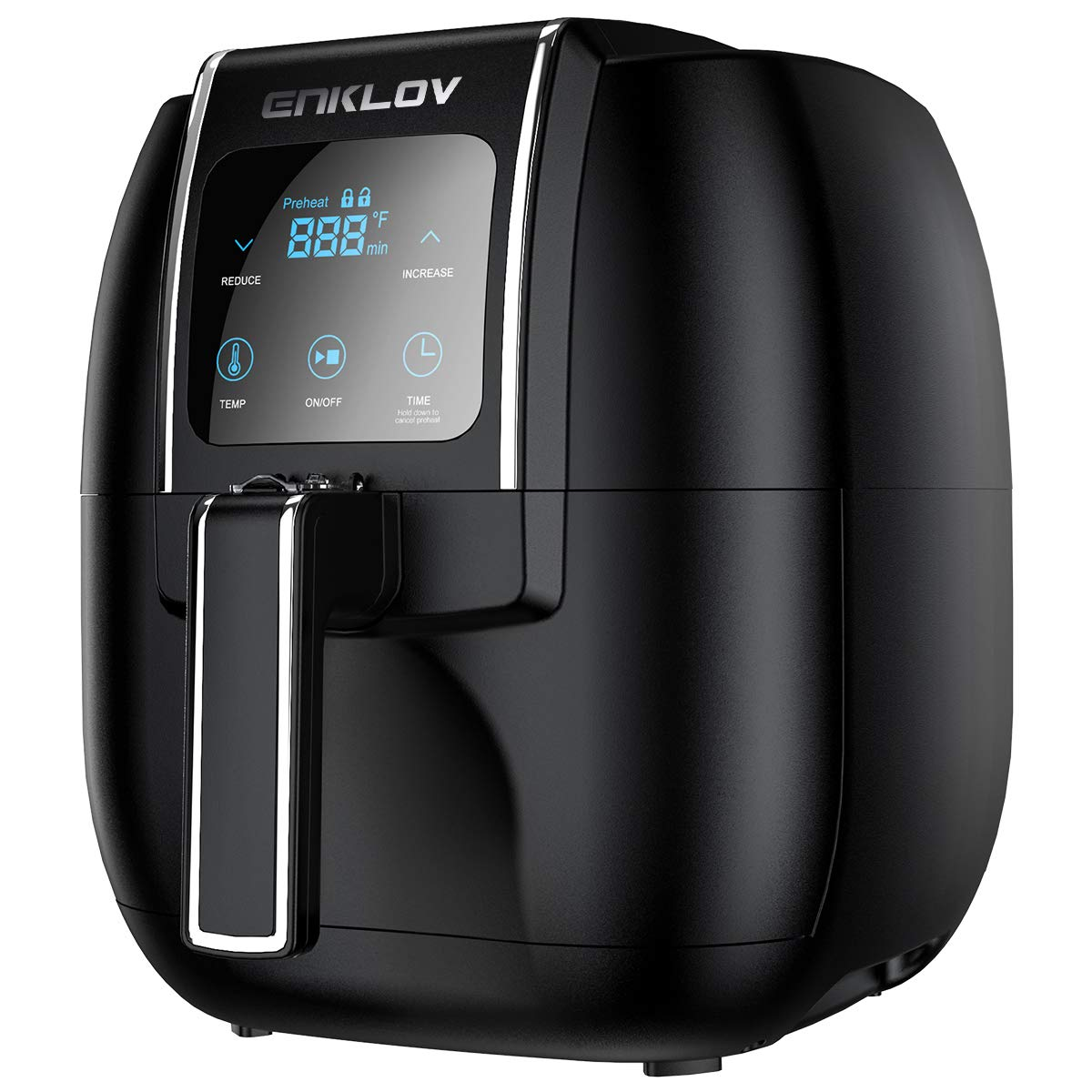 ENKLOV Air Fryer 5.5QT XL (Recipe Guide Included) ENKLOV 12 in 1 Digital Display Control, Oil Less Hot Airfryer Oven, Fast 1350W Electric Power Air Cooker,Easy Clean