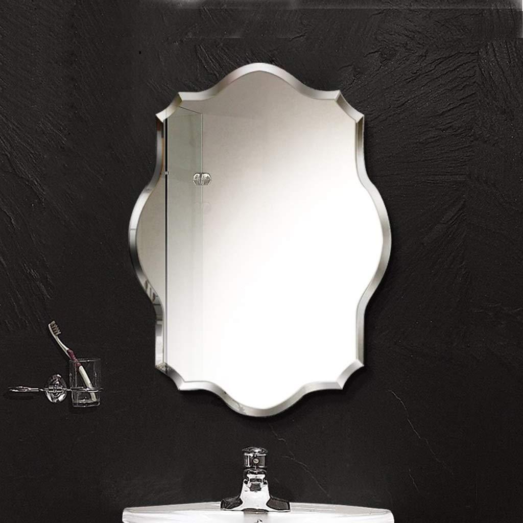 Gchom Parete A Specchio Geometrica HD Senza Telaio Squisita Macinacaffina da 1,5 cm Specchio A Parete per Bagno Specchio da Bagno Size : 45x60cm