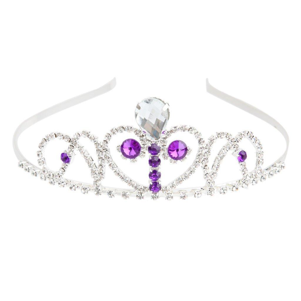 Wedding Bridal Diamante Rhinestone Purple Crystal Headband Tiara Headpiece Generic STK0156002023