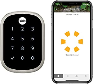 Yale Assure Lock SL, Wi-Fi and Bluetooth Deadbolt - Works with Amazon Alexa, Google Assistant, HomeKit, Airbnb and More - Satin Nickel