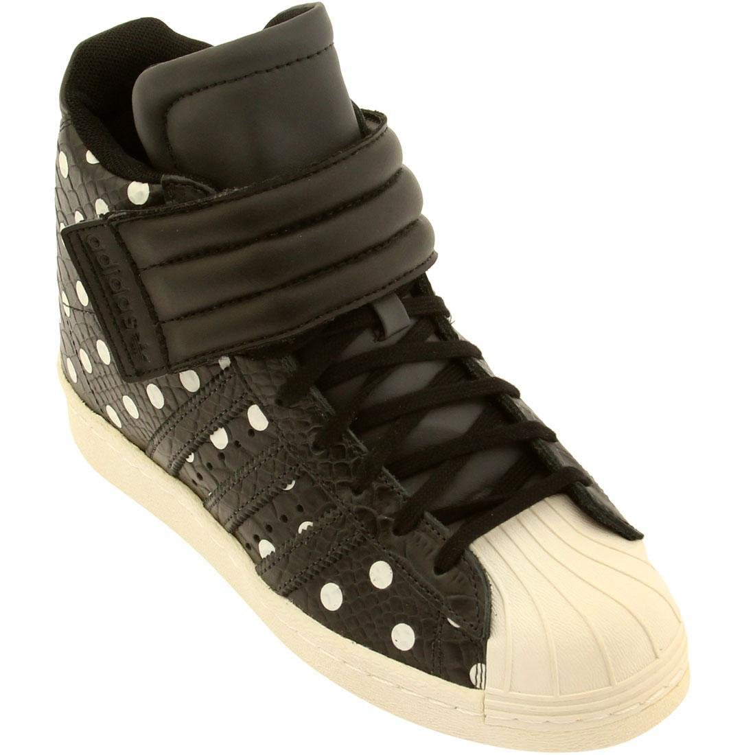 Womens Adidas Superstar Up Bügel Keil Schuhe Kohlenstoff