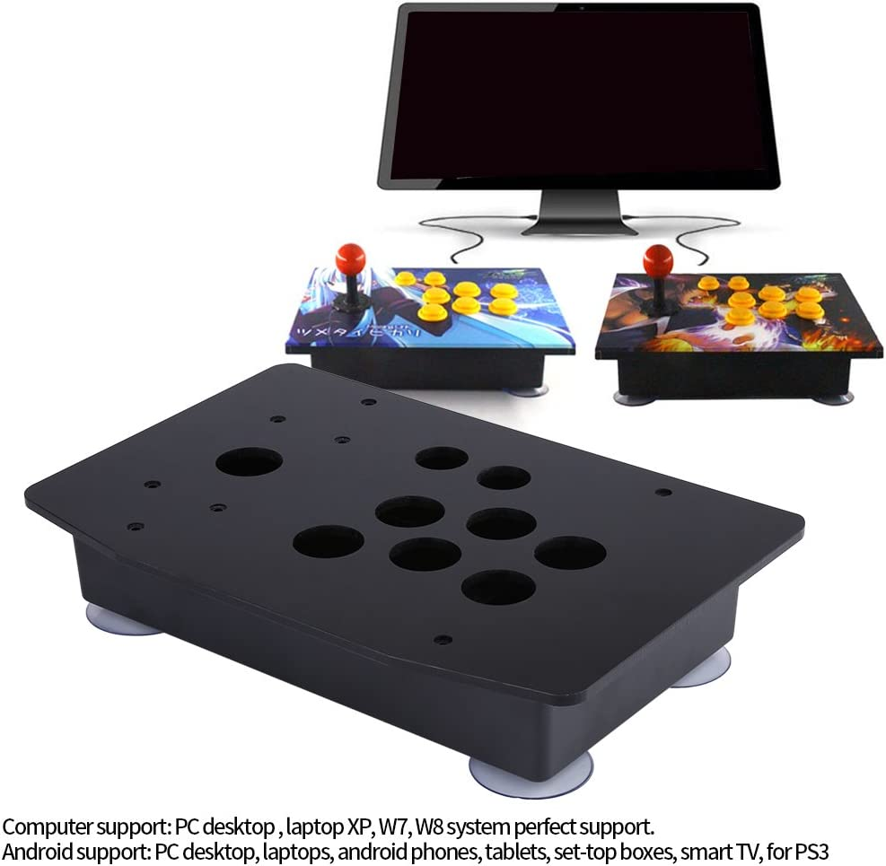 Replacement Arcade Gaming Kit Arcade Game DIY Parts Kit with Black Acrylic Panel and Case,Easy to Assemble