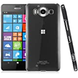 Heartly Imak Crystal Clear Hot Transparent Thin Hard Back Case Cover For Microsoft Lumia 950