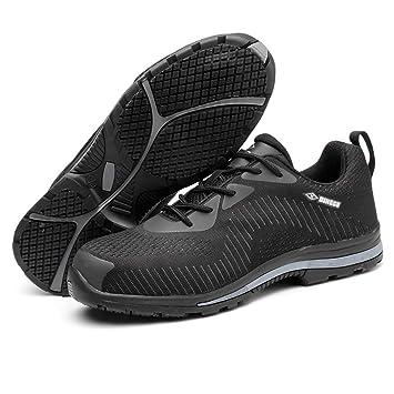 YXWa Botas para Hombres Zapatos de Seguridad Laboral Zapatos de Hombre, Ligeros, Transpirables,