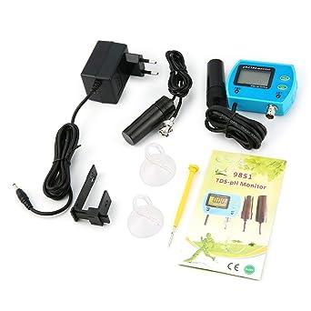2 EN 1 portátil PH TDS medidor de agua digital acuario monitor tester analizador
