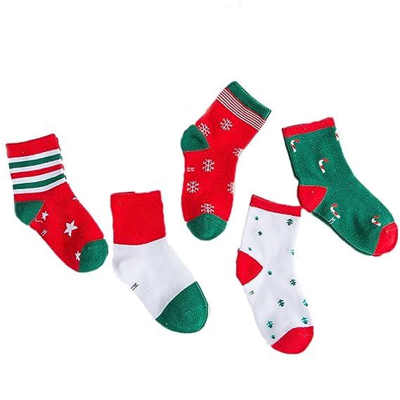 TENDYCOCO Calcetines Medias de Navidad Calcetines medios Calcetines para niños pequeños para niñas 1Pair (Color