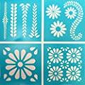 Martha Stewart Crafts Vintage Decor Stencil (8.75 by 9.75-Inch), 33557 Daisy Petal (4 Sheets with 10 Designs) by Plaid Inc