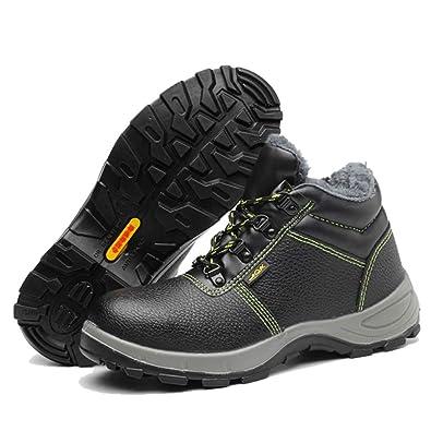 Zapatos de Seguridad para Hombre Invierno Piel Calzado de Seguridas con Puntera de Acero Trabajo Zapatillas Botas: Amazon.es: Zapatos y complementos