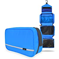 Hanging Toiletries Bag, Travel Waterproof Toiletry Wash Bag, Boic Hangable and Fold up out Shaving Cosmetic Kit, Mesh and Compact Compartment, Zipped Premium for Men and Women