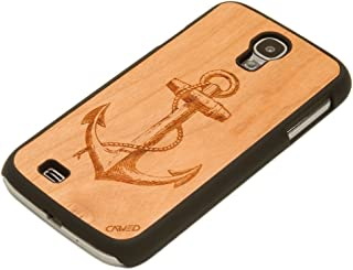 product image for CARVED Matte Black Wood Case for Samsung Galaxy S4 - Anchor Engraved Cherry (S4-BC1K-E-ANCR)