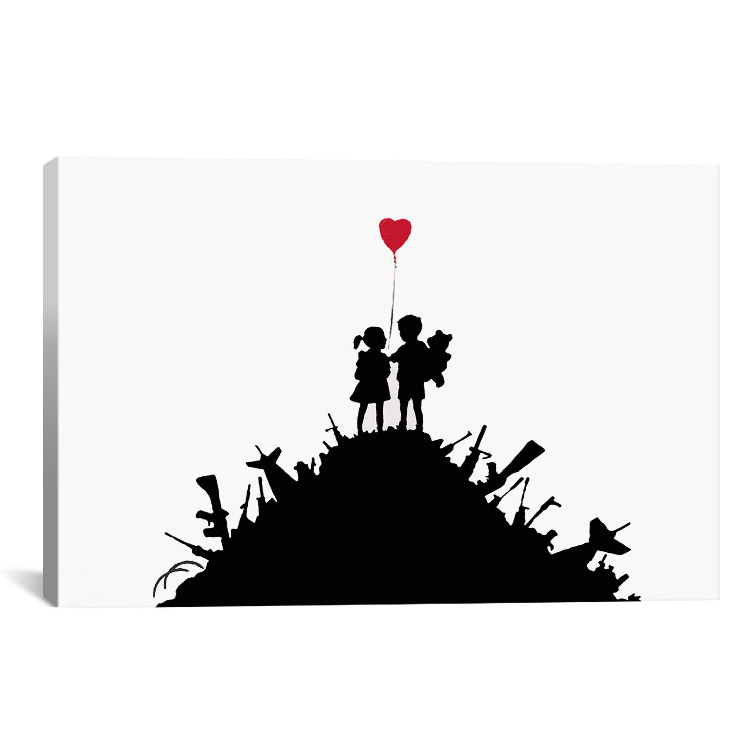 iCanvasART Kids on Guns Hill by Banksy Canvas Art Print, 40 by 26-Inch