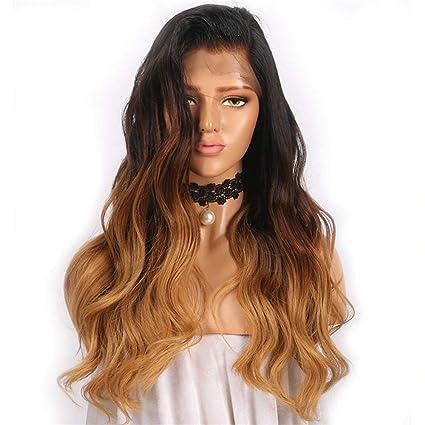 LEOMI: peluca de cabello humano natural con encaje para mujer #1B/#27