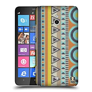 Head Case Designs Spring Stitched Aztec Hard Back Case Cover for Nokia Lumia 1320