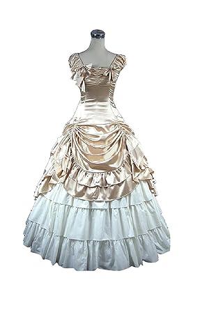 Women Sleeveless Victoria Gothic Lolita Prom Court Dress Costumes Retro Puff Dress Small