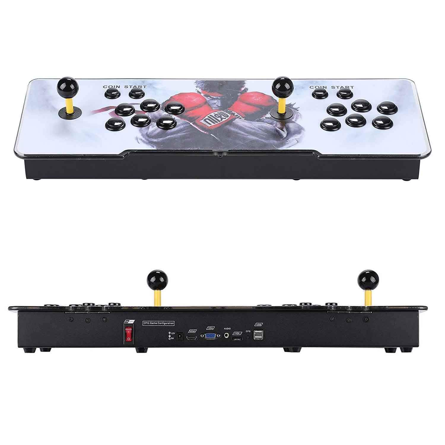 Vemac 3D Pandora Box add Additional Games with Full HD Arcade Console Upgraded CPU 2 Players Pandoras Box 9s Video Game Console with Arcade Joystick Support HDMI VGA USB (2400in1) (Black) by Vemac (Image #4)