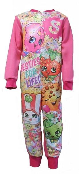 Enterizo de Shopkins para niñas con impresiones de manzana, flores y palomitas de