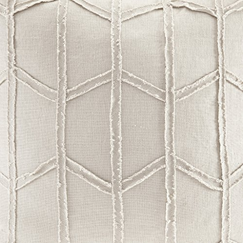 Harbor House Frayed Geo Linen Square Dec Pillow, 20x20,