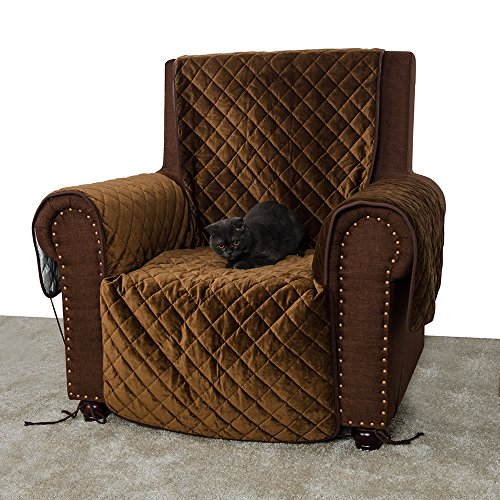 Furry Buddy Quilted Velvet Pet Recliner Cover, Water Resistant Couch  Furniture Cover, Non