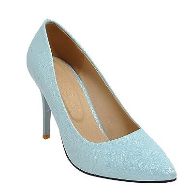 Mee Shoes Damen high heels Glattleder spitz Pumps