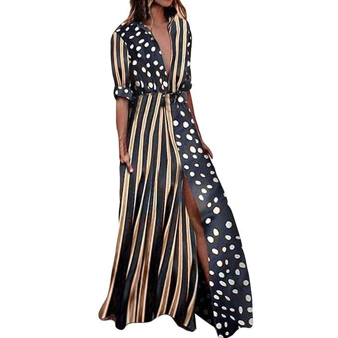 Vestidos Largos Verano Playa Mujer Casual Fiesta 2018 Largo Partido De Noche SeñOras Moda del Punto
